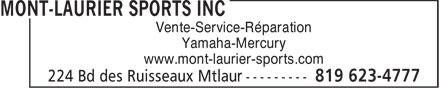Ads Mont-Laurier Sports Inc