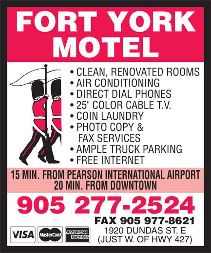 Fort York Motel (905-277-2524) - Display Ad -