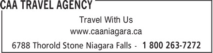 CAA Agence de Voyages (1-800-263-7272) - Annonce illustrée======= - www.caaniagara.ca Travel With Us