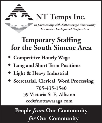 NT Temps Inc (705-435-1540) - Display Ad -