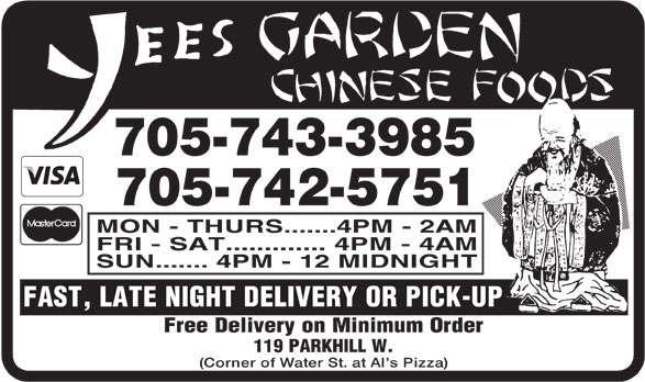 Yees Garden Chinese Foods (705-742-5751) - Display Ad -