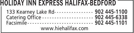 Holiday Inn Express (902-445-1100) - Display Ad -