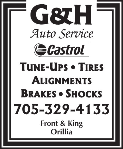 G & H Auto (705-329-4133) - Display Ad - Front & King Orillia