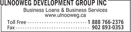 Ulnooweg Development Group Inc (1-888-766-2376) - Annonce illustrée======= - Business Loans & Business Services www.ulnooweg.ca