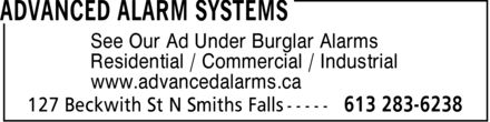 Advanced Alarm Systems (613-283-6238) - Annonce illustrée======= - Residential / Commercial / Industrial www.advancedalarms.ca See Our Ad Under Burglar Alarms Residential / Commercial / Industrial www.advancedalarms.ca See Our Ad Under Burglar Alarms Residential / Commercial / Industrial www.advancedalarms.ca See Our Ad Under Burglar Alarms Residential / Commercial / Industrial www.advancedalarms.ca See Our Ad Under Burglar Alarms