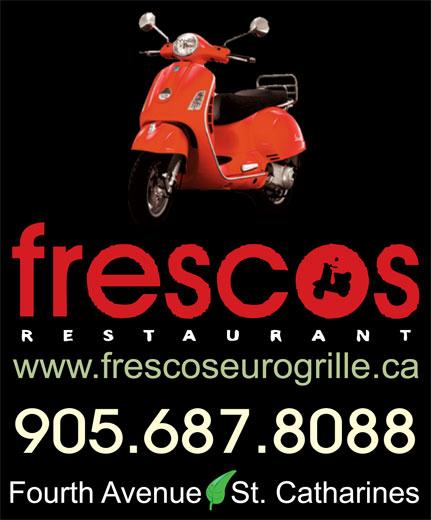 Fresco's Euro Grille (905-687-8088) - Display Ad - 905.687.8088
