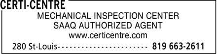 Certi-Centre (819-663-2611) - Annonce illustrée======= - MECHANICAL INSPECTION CENTER SAAQ AUTHORIZED AGENT www.certicentre.com  MECHANICAL INSPECTION CENTER SAAQ AUTHORIZED AGENT www.certicentre.com  MECHANICAL INSPECTION CENTER SAAQ AUTHORIZED AGENT www.certicentre.com  MECHANICAL INSPECTION CENTER SAAQ AUTHORIZED AGENT www.certicentre.com  MECHANICAL INSPECTION CENTER SAAQ AUTHORIZED AGENT www.certicentre.com  MECHANICAL INSPECTION CENTER SAAQ AUTHORIZED AGENT www.certicentre.com  MECHANICAL INSPECTION CENTER SAAQ AUTHORIZED AGENT www.certicentre.com  MECHANICAL INSPECTION CENTER SAAQ AUTHORIZED AGENT www.certicentre.com  MECHANICAL INSPECTION CENTER SAAQ AUTHORIZED AGENT www.certicentre.com  MECHANICAL INSPECTION CENTER SAAQ AUTHORIZED AGENT www.certicentre.com  MECHANICAL INSPECTION CENTER SAAQ AUTHORIZED AGENT www.certicentre.com  MECHANICAL INSPECTION CENTER SAAQ AUTHORIZED AGENT www.certicentre.com