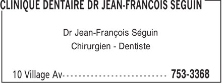 Clinique Dentaire (506-753-3368) - Display Ad -
