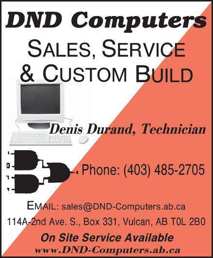 DND Computers (403-485-2705) - Annonce illustrée======= -