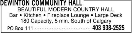 Ads DeWinton Community Hall