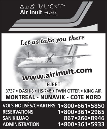 Air Inuit Ltd (867-266-8946) - Annonce illustrée======= -