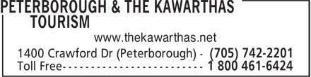 Peterborough & The Kawarthas Tourism (705-742-2201) - Annonce illustrée======= - www.thekawarthas.net