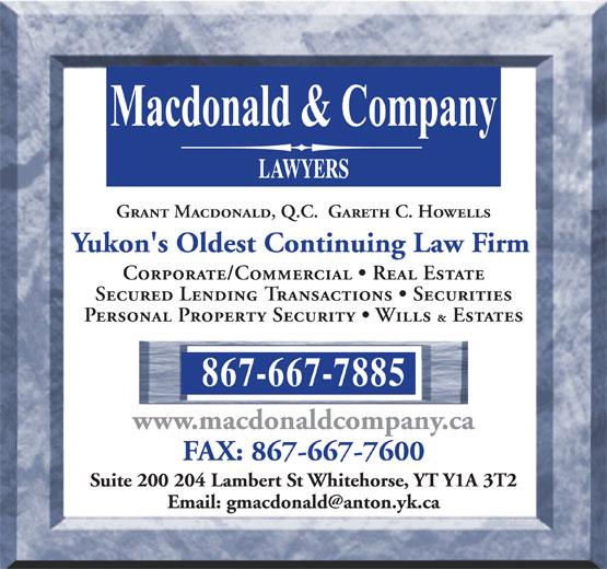Macdonald & Company (867-667-7885) - Display Ad -