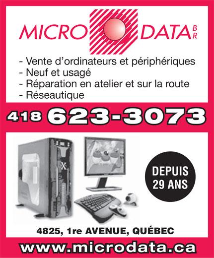 Micro Data Br (418-623-3073) - Annonce illustrée======= -