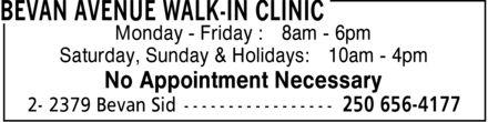 Ads Bevan Avenue Walk-In Clinic