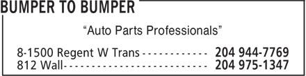 """Auto Parts Central (204-975-1347) - Display Ad - """"Auto Parts Professionals""""  """"Auto Parts Professionals"""""""