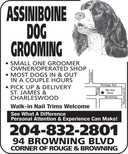 Assiniboine Dog Grooming (204-832-2801) - Annonce illustrée======= -