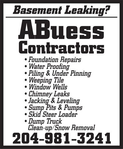 ABuess Contractors (204-981-3241) - Display Ad -