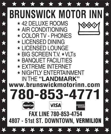 Brunswick Motor Inn (780-853-4771) - Display Ad -
