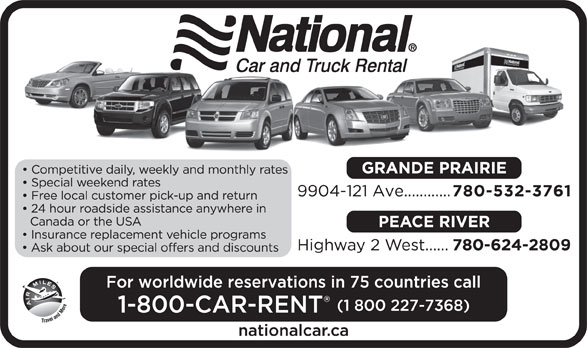 National Car and Truck Rental (780-532-3761) - Display Ad -