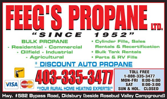 Feeg's Propane Ltd (403-335-3477) - Display Ad - 403-335-3477