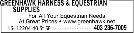 Ads Greenhawk Harness & Equestrian Supplies