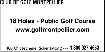 Club De Golf Montpellier (1-800-927-4653) - Annonce illustrée======= - 18 Holes Public Golf Course www.golfmontpellier.com 18 Holes Public Golf Course www.golfmontpellier.com 18 Holes Public Golf Course www.golfmontpellier.com 18 Holes Public Golf Course www.golfmontpellier.com 18 Holes Public Golf Course www.golfmontpellier.com 18 Holes Public Golf Course www.golfmontpellier.com