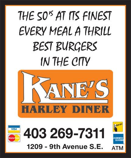 Kane's Harley Diner (403-269-7311) - Display Ad -