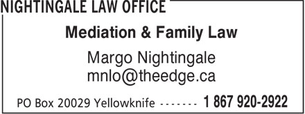 Nightingale Law Office (867-920-2922) - Annonce illustrée======= -