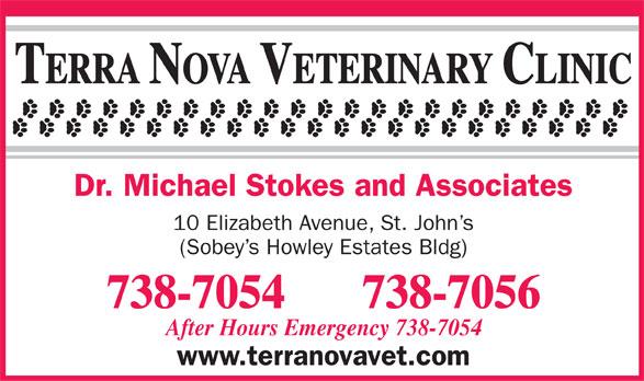 The Terra Nova Veterinary Clinic (709-738-7054) - Annonce illustrée======= -