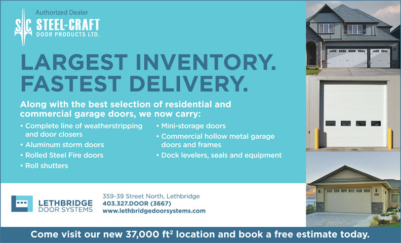 Lethbridge Door Systems Inc (403-327-3667) - Display Ad -