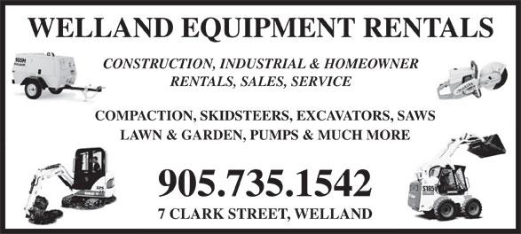 Ads Welland Equipment Rentals Ltd