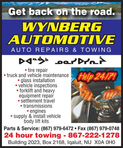 Wynberg Automotive (867-979-6472) - Annonce illustrée======= -