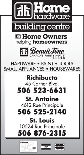 Home Hardware Building Centre (506-523-6631) - Display Ad -