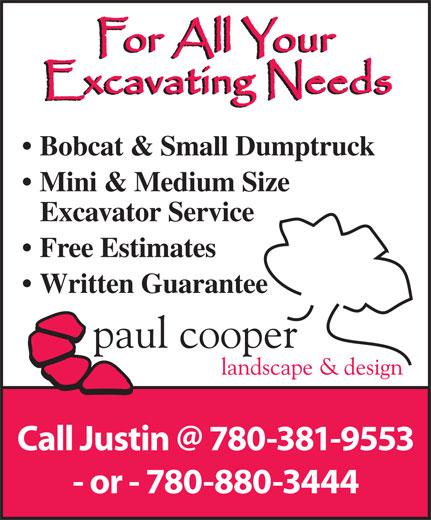Paul Cooper Landscape & Design (780-880-3444) - Annonce illustrée======= -