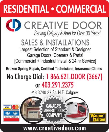 Creative Door Services (403-291-2375) - Display Ad -