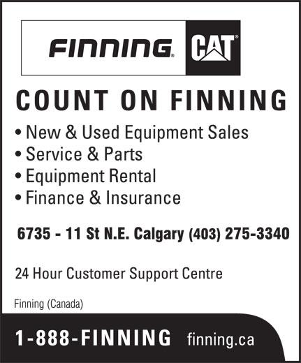 Finning (Canada) (403-275-3340) - Display Ad -