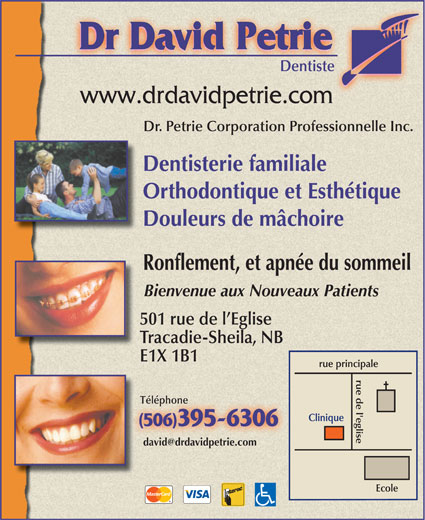 Dr David Petrie (506-395-6306) - Display Ad -