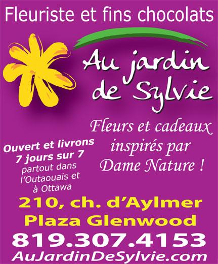 Au Jardin De Sylvie (819-684-2772) - Display Ad -