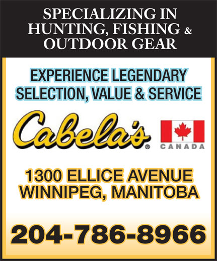 Cabela's (204-786-8966) - Display Ad -