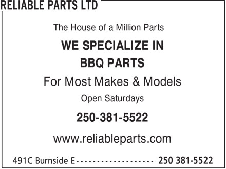 Ads Reliable Parts Ltd