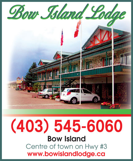 Bow Island Lodge Hotel (403-545-6060) - Annonce illustrée======= - 403 545-6060 Bow Island Centre of town on Hwy #3 www.bowislandlodge.ca Bow Island Lodge Bow Island Lodge ()