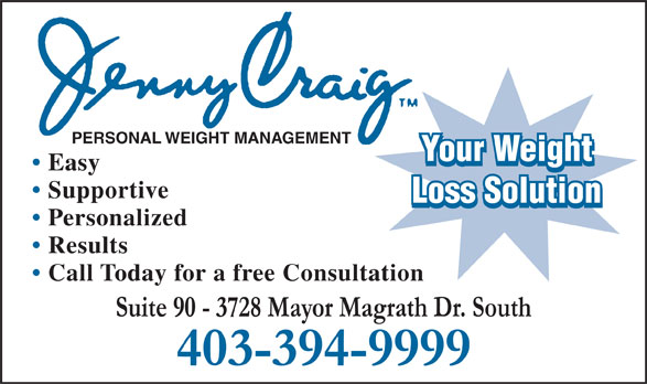 Ads Jenny Craig Personal Weight Management