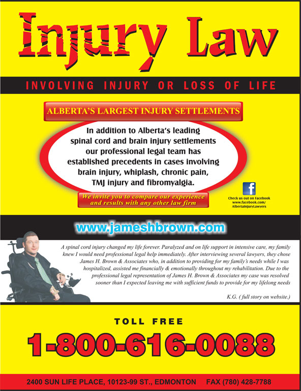 James H. Brown & Associates (1-800-616-0088) - Display Ad -