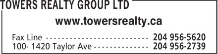 Towers Realty Group (204-956-2739) - Annonce illustrée======= - www.towersrealty.ca