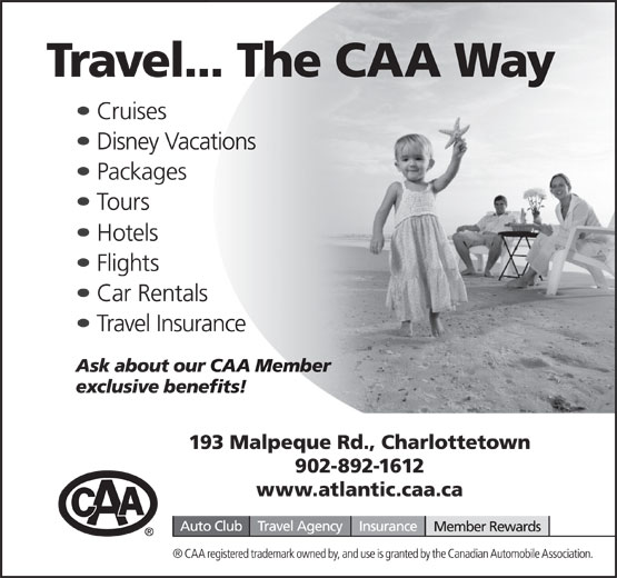 CAA (902-892-1612) - Annonce illustrée======= -