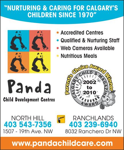 Panda Child Development Centre (403-543-7356) - Annonce illustrée======= -