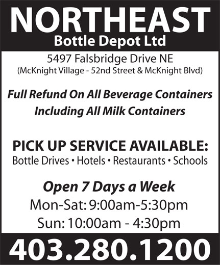 Ads Northeast Bottle Depot Ltd