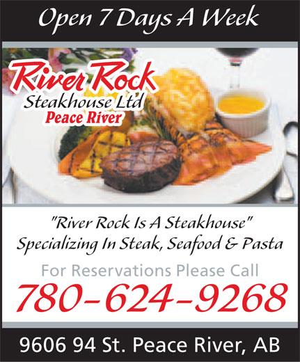 River Rock Steakhouse Ltd (780-624-9268) - Annonce illustrée======= -