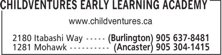 Childventures Early Learning Academy (905-637-8481) - Display Ad - www.childventures.ca